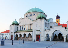 Synagogue in city Trencin stock photo