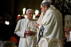 Synagogue de visite de pape Benedictus XVI de Rome de Rome Photos stock