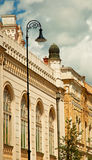 Synagogue in Hungary. White synagogue in Kecskemét, Hungary royalty free stock photography
