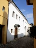 Synagogue in Jewish quarter in Trebic Stock Images