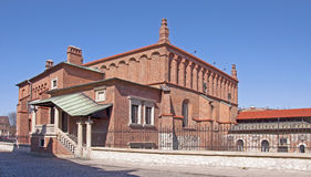Synagogue in Krakow. Old Synagogue in historic Jewish Kazimierz district of Cracow, Poland royalty free stock photography