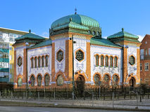 Synagogue in Malmo, Sweden. Synagogue in Malmo in Art Nouveau and Moorish Revival design, Sweden royalty free stock images