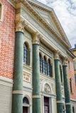 Synagogue of Modena. Emilia-Romagna. Italy. Principal facade of Synagogue of Modena. Emilia-Romagna. Italy royalty free stock photos