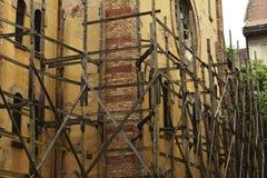 Synagogue pendant la restauration Image stock