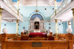 Synagogue in Riga. Interior of synagogue in Riga, Latvia Stock Photography