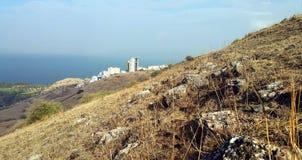 Synagogue ruins at Mount Arbel Royalty Free Stock Images