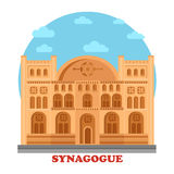 Synagogue or synagog architecture building Royalty Free Stock Images