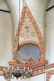 Detail of synagogue interior in Zamosc, Poland royalty free stock photo