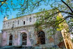 Synagogue in Zhovkva Lviv region. Founded in 1692-1698. March 2015 Royalty Free Stock Images