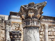The Synagouge of Capharnaum Royalty Free Stock Photo