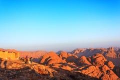 Synaj góry przy świtem Zdjęcia Stock