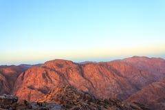 Synaj góry w ranku horyzontalnym Zdjęcie Royalty Free