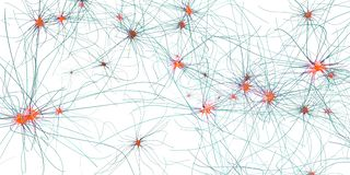 Synapse, neurone ou cellule nerveuse de transmission illustration stock