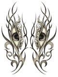 Synar den overkliga tatueringen Royaltyfri Foto
