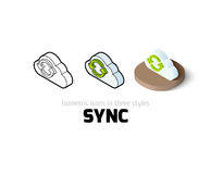 Sync icon in different style Stock Photos