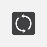 Sync icon, vector logo illustration, pictogram isolated on white. Sync icon, vector logo illustration, pictogram isolated on white Royalty Free Stock Photography