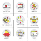 Sync Synchronize Internet Cloud Network Technology Data Protection Icon Set Stock Images