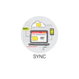 Sync Synchronize Internet Cloud Technology Icon Royalty Free Stock Images