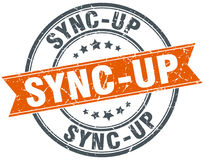 Sync-up round grunge stamp Stock Photography