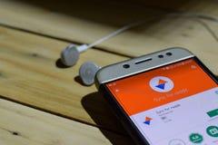Synchronisation pour l'application de reddit sur l'écran de Smartphone photos stock