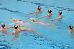 Synchronised swimming Royalty Free Stock Images
