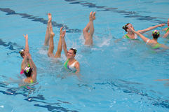 Synchronised swimming Stock Photo