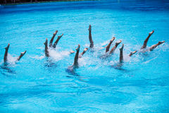 Synchronised Swimming Royalty Free Stock Photography