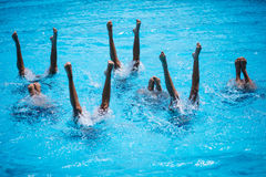 Synchronised Swimming Stock Photography
