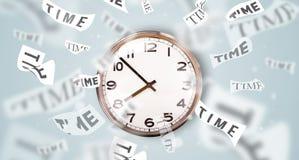 Synchronisez et observez le concept avec du temps volant loin Images stock