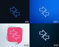 Synchronisez la ligne icône de flèches arrowheads Illustration Stock