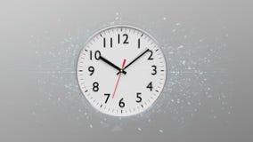 Synchronisez la minuterie d'isolement sur un rendu du fond 3d Photographie stock libre de droits