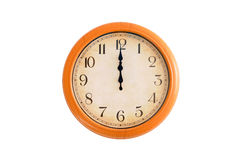 Horloge montrant 12 heures Photos stock