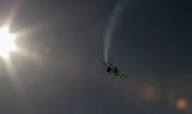 Synchronisierte Flugzeuge auf Flugschau Lizenzfreies Stockfoto