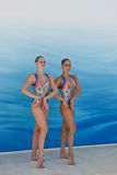 Synchronisierte Schwimmen Lizenzfreie Stockfotografie