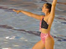 Synchronisierte Schwimmerfahrwerkbeinbewegung Stockbild