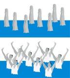 Synchronisierte Schwimmerfahrwerkbeinbewegung Lizenzfreies Stockfoto