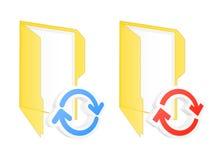 Synchronization folder icons. Set of sync folder icons. Vector illustration Stock Photography