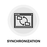 Synchronization Line Icon Royalty Free Stock Images