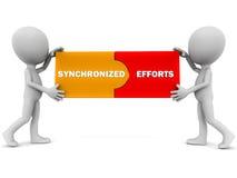 Synchronized efforts Royalty Free Stock Images