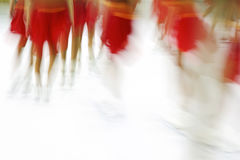 Synchronized Skating Impression Stock Image