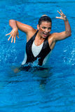 Synchronized Swim Girl Dance Pose Stock Photo