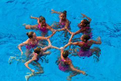 Synchronized Swim Womens Dance  Royalty Free Stock Photography