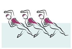 Synchronized swimming Royalty Free Stock Photos