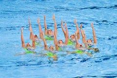 Synchronized swimming - France Stock Photo