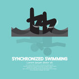 Synchronized Swimming Graphic Symbol Stock Image