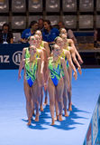 Synchronized swimming - Great Britain Royalty Free Stock Photography