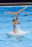 Synchronized swimming - Great Britain Royalty Free Stock Photos