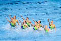 Synchronized swimming - Great Britain Royalty Free Stock Images