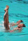 Synchronized swimming Royalty Free Stock Photography