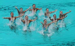Synchronized swimming Royalty Free Stock Image